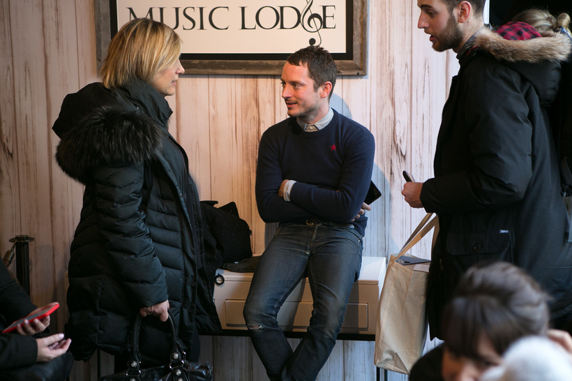 Jud Burkett/Invision for The Music Lodge/AP Images Elijah Wood at the Music Lodge during the Sundance Film Festival