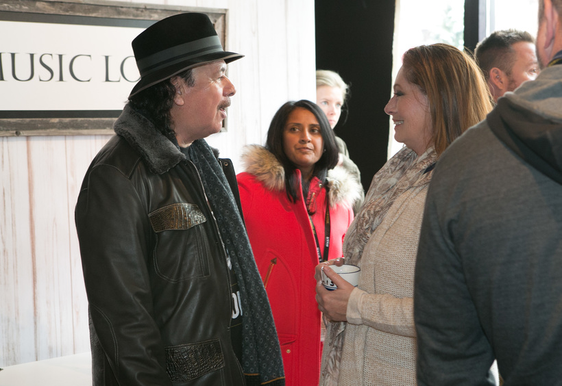Carlos Santana with Lisa Precious (Producer - Music Lodge)