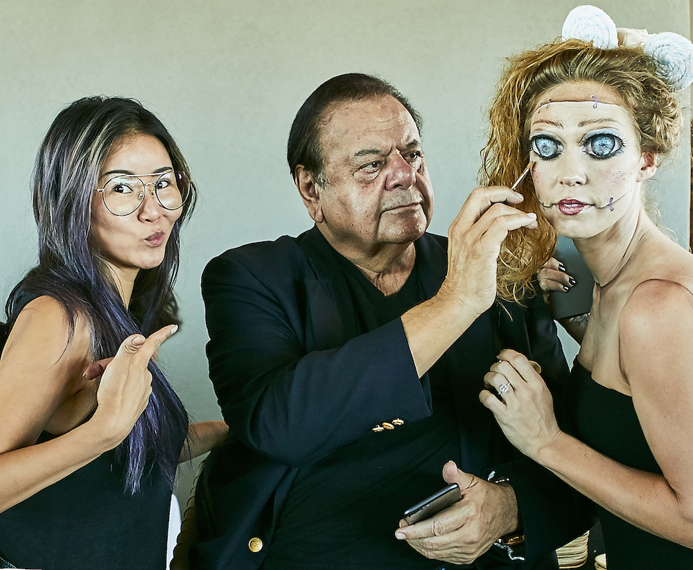 Hyewon Ahn, celebrity makeup artist & founder of Studio Ahn, with legendary actor and artist Paul Sorvino.