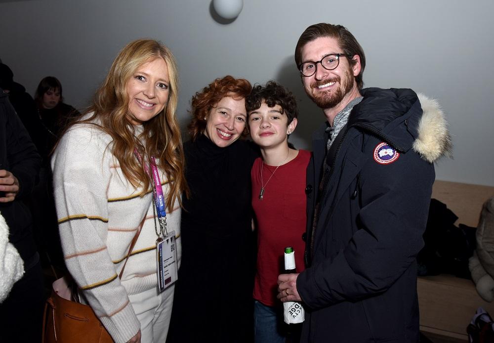 (L-R) Daniela Taplin Lundberg, Katy Cavanagh, Noah Jupe, and Christopher Leggett