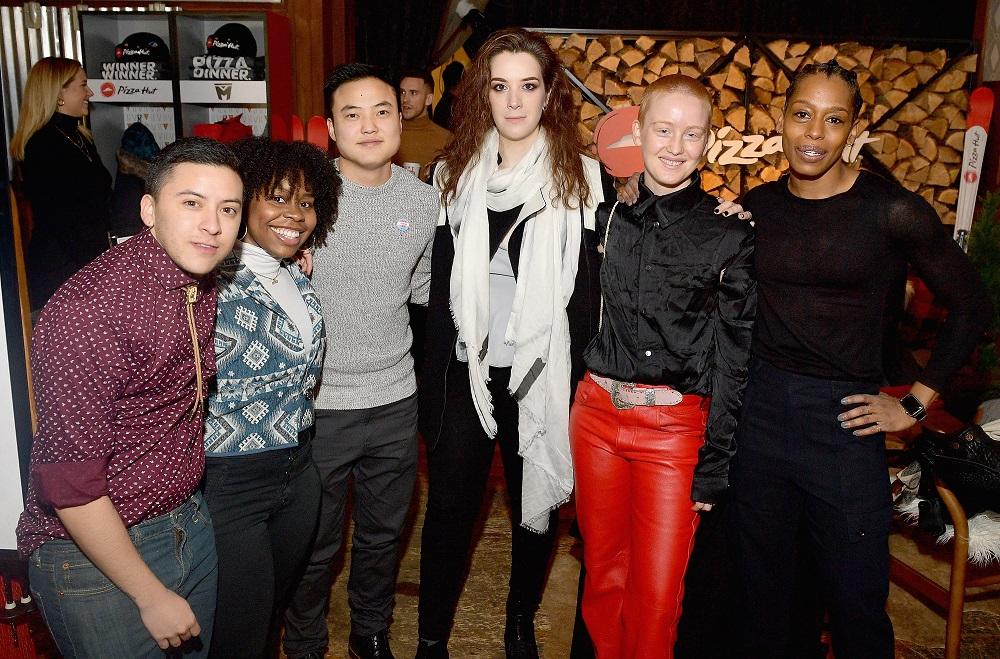 "(L-R) Actors from the film ""Adam"" Maxton Miles Baeza, Paige Gilbert, Leo Sheng, Dana Aliya Levinson, Bobbi Salvör Menuez, and Alisha B. Woods"