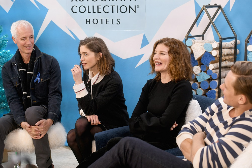 (L-R) Dan Gilroy, Natalia Dyer, Rene Russo and Billy Magnussen