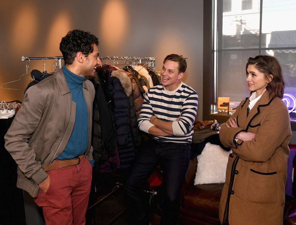 (L-R) Karan Soni, Billy Magnussen and Natalia Dyer