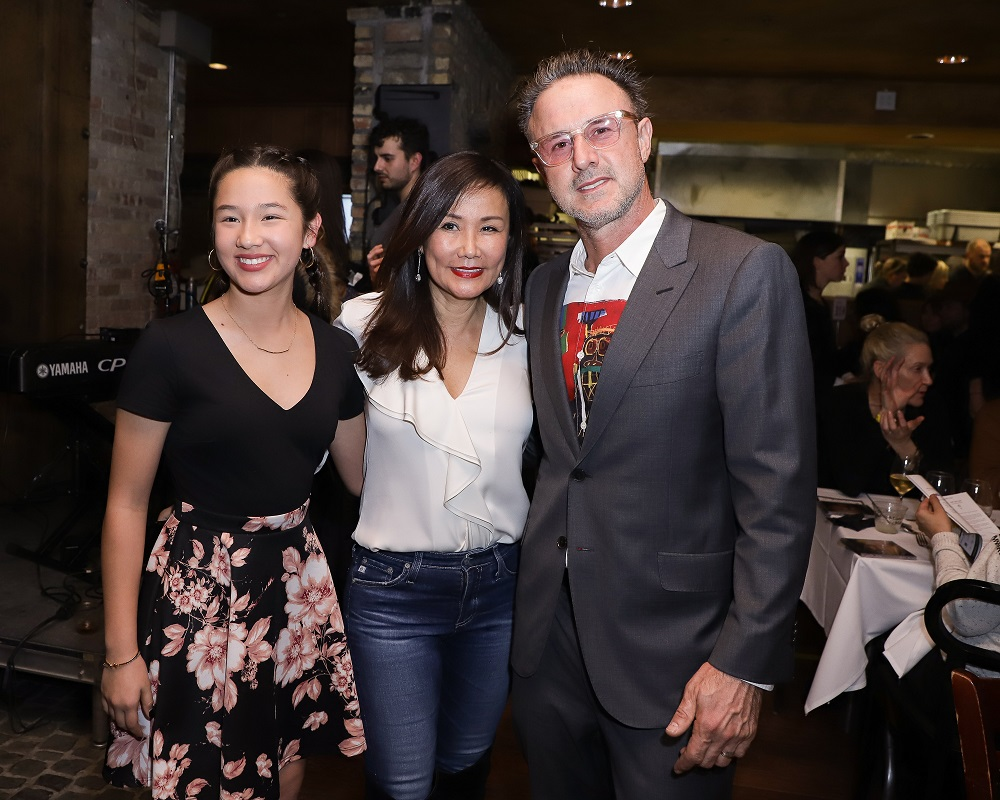 Skyler Griswold, Mimi Kim and David Arquette