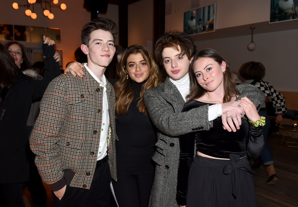 (L-R) Griffin Gluck, Brielle Barbusca, Thomas Barbusca, and Caroline Gluck